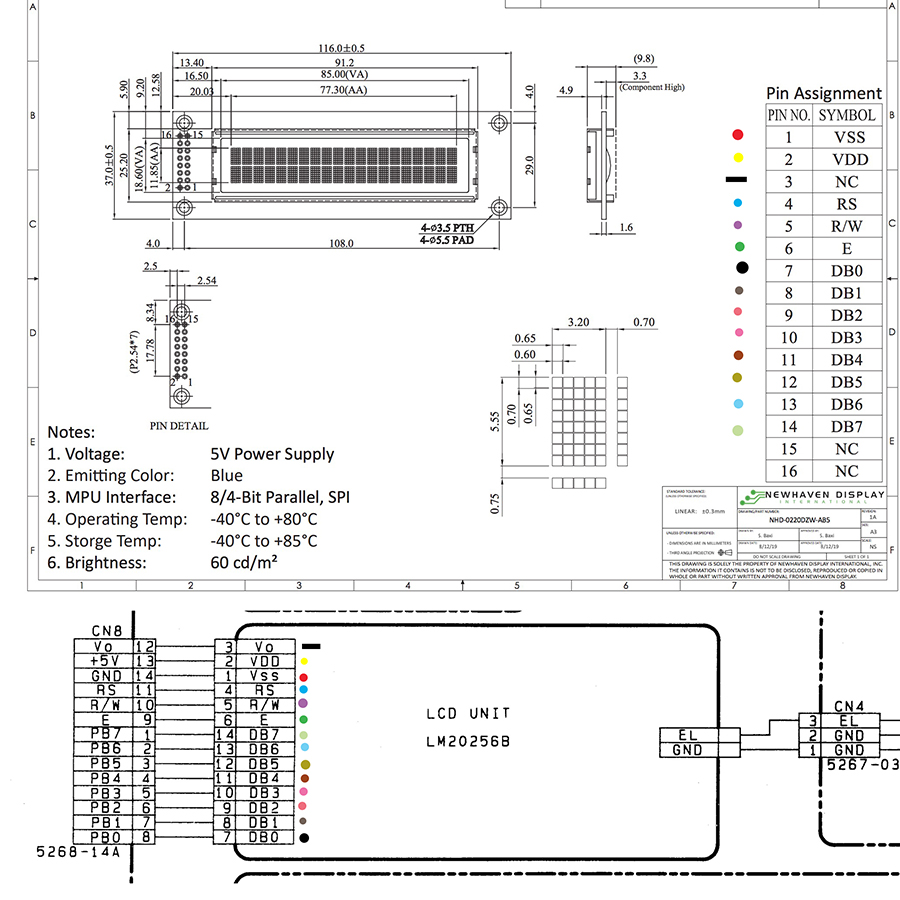 OLED LCD Schematic