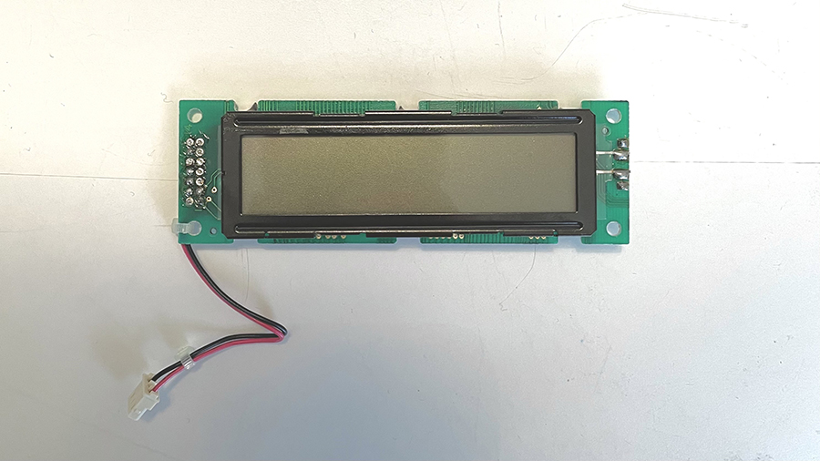 Removed LCD assembly
